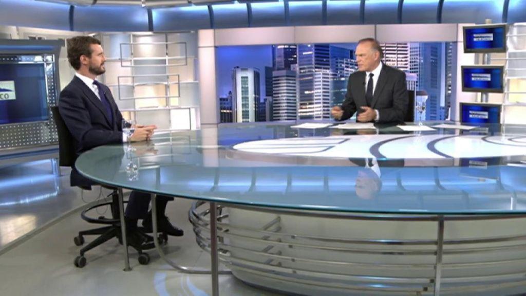 Pedro Piqueras entrevista a Pablo Casado el lunes a partir de las 21h en Informativos Telecinco