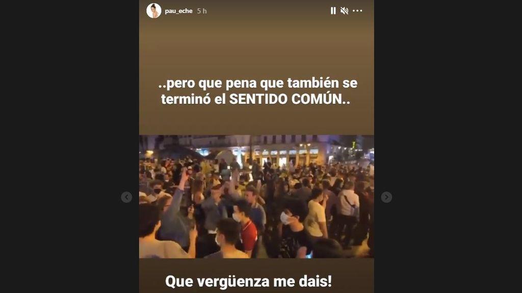 Paula Echevarría reacciona a las celebraciones por el fin del estado de alarma