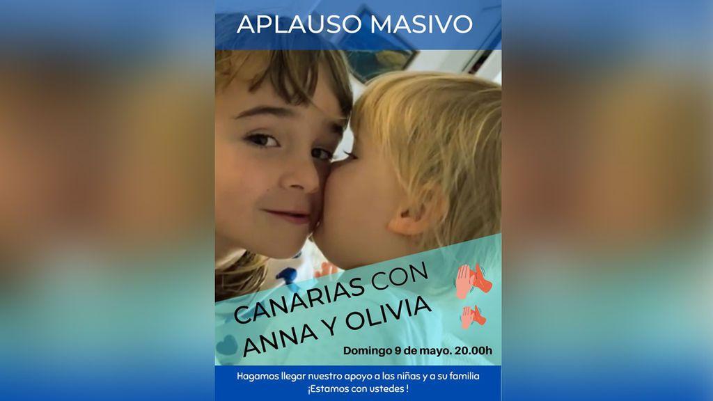 Aplauso masivo por las niñas desaparecidas en Tenerife el domingo 9 de mayo a las 20 horas