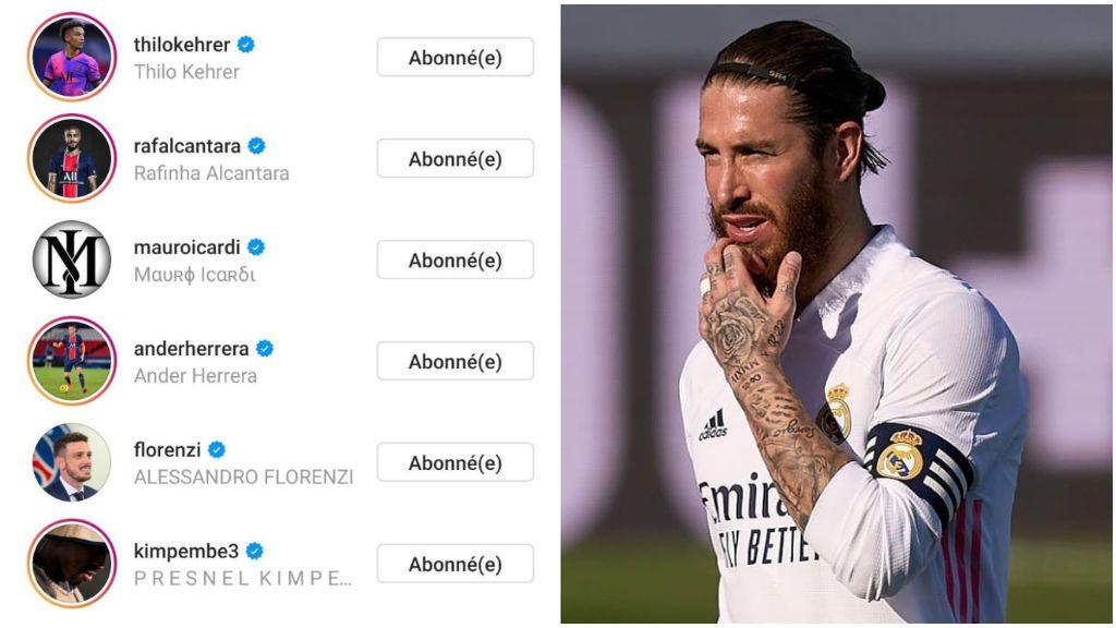 Ramos aplaudió la renovación de Neymar y siguió a varios jugadores del PSG.