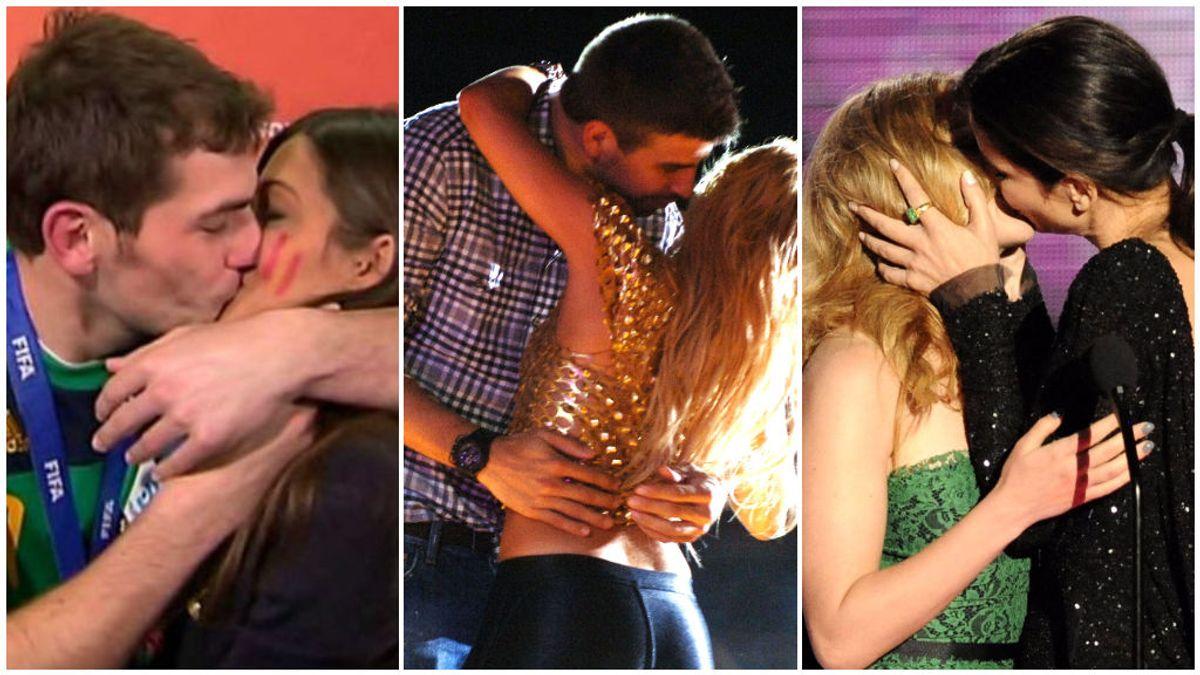 El de Sara Carbonero y Casillas y otros besos robados que triunfaron: la intrahistoria de estos momentos que hicieron historia.