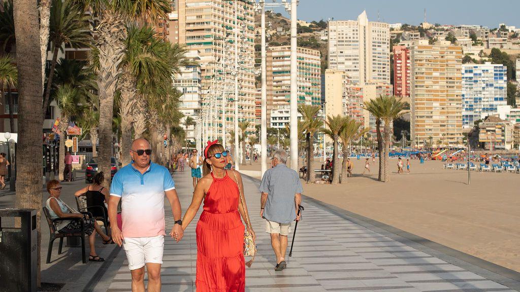 Turistas en Benidorm