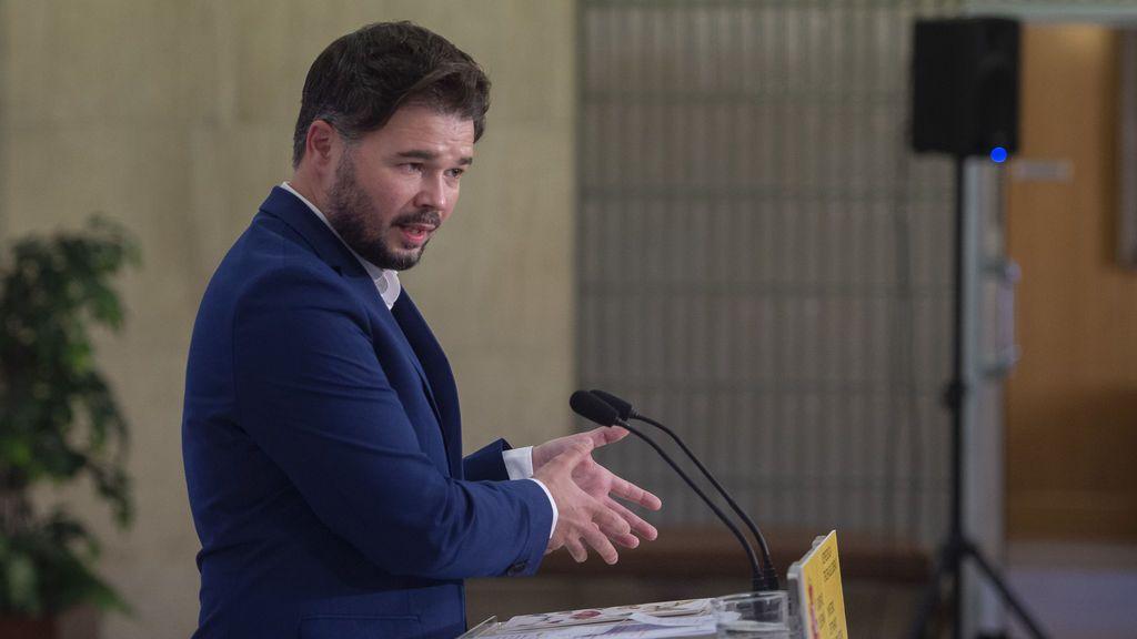 """Rufián, sobre el Gobierno en Cataluña: """"Ya vale, ya basta, la gente está harta"""""""