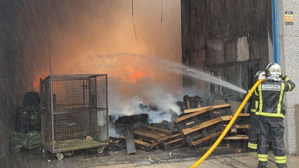 Incendio en Fuenlabrada