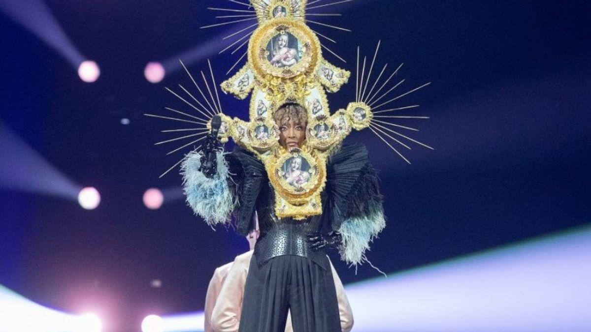 Ensayo de San Marino para Eurovisión con la cantante Senhit y su 'Adrenalina'