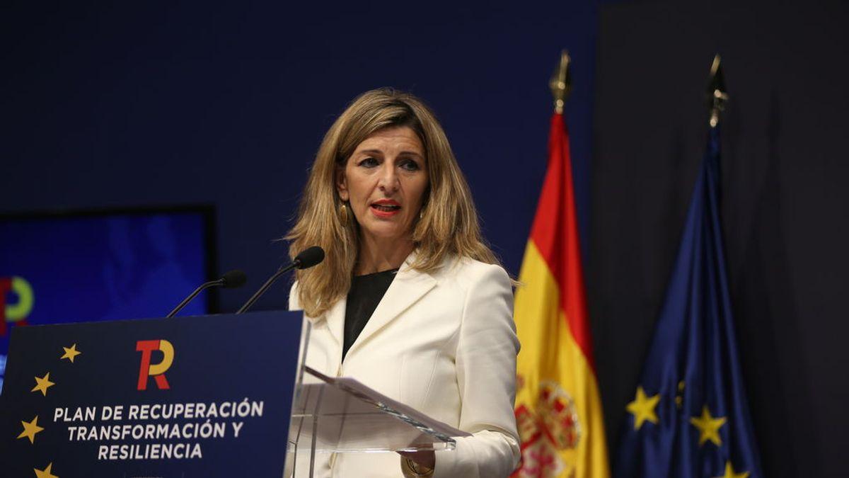 """Yolanda Díaz asegura que la reforma laboral enviada a Bruselas es """"una enmienda a la del PP"""""""