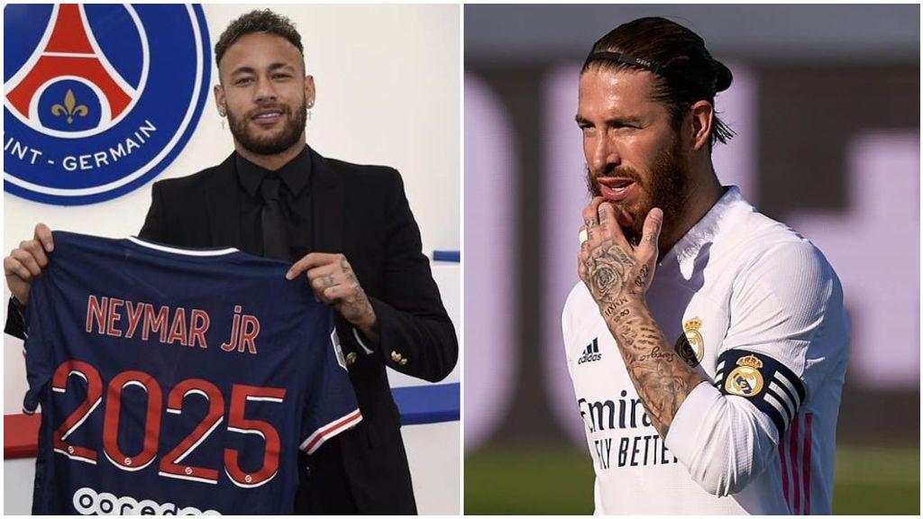 Sergio Ramos aplaudió la renovación de Neymar con el PSG.
