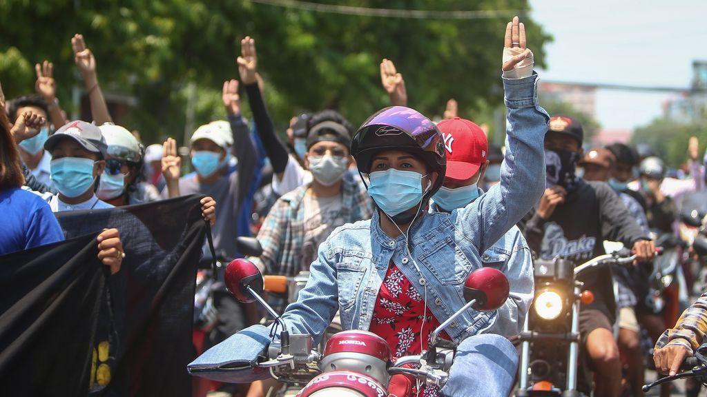 Birmania cumple 100 días desde el golpe de Estado militar que