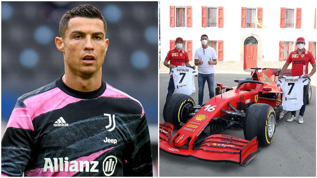 Cristiano Ronaldo, en su visita a Ferrari en Maranello.