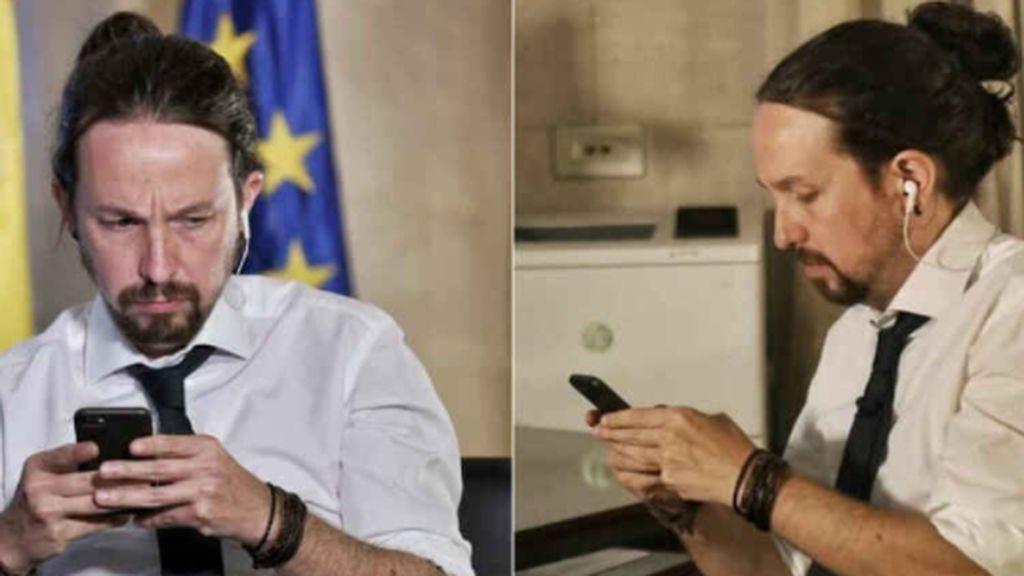 Pablo Iglesias con moño