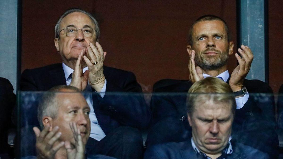 Ceferin estudia las posibilidades de sanción a Madrid y Barça.