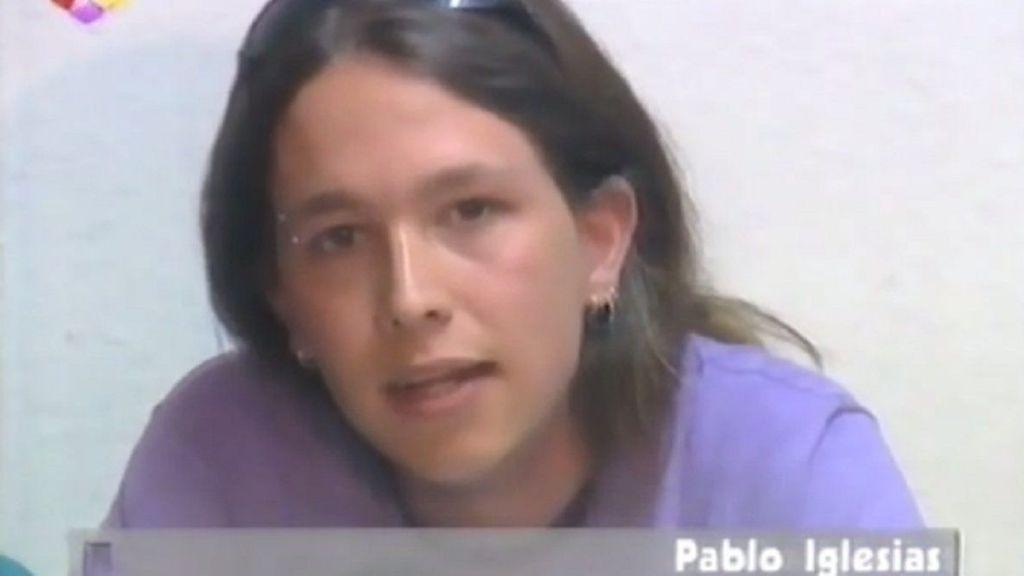 Pablo Iglesias, en Telemadrid (2001)