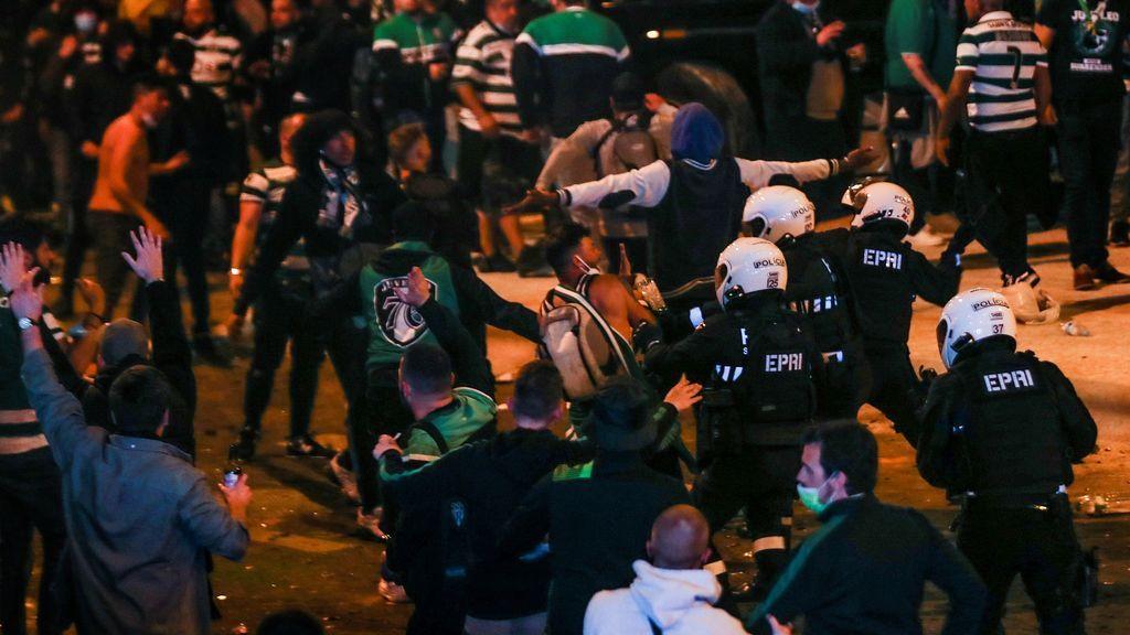 Disturbios en  la celebración del título de liga del Sporting de Lisboa