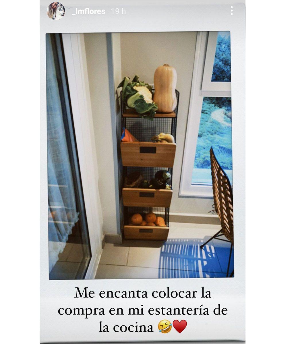 Un rincón de la cocina de Laura Matamoros de lo más organizado