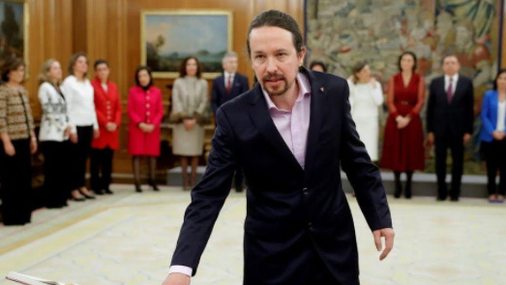 Pablo Iglesias jura como vicepresidente