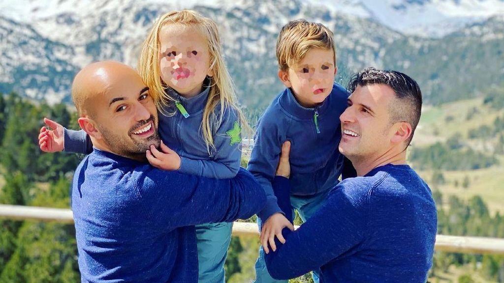 Juan y Chris, dos papás que arrasan visibilizando su familia diversa