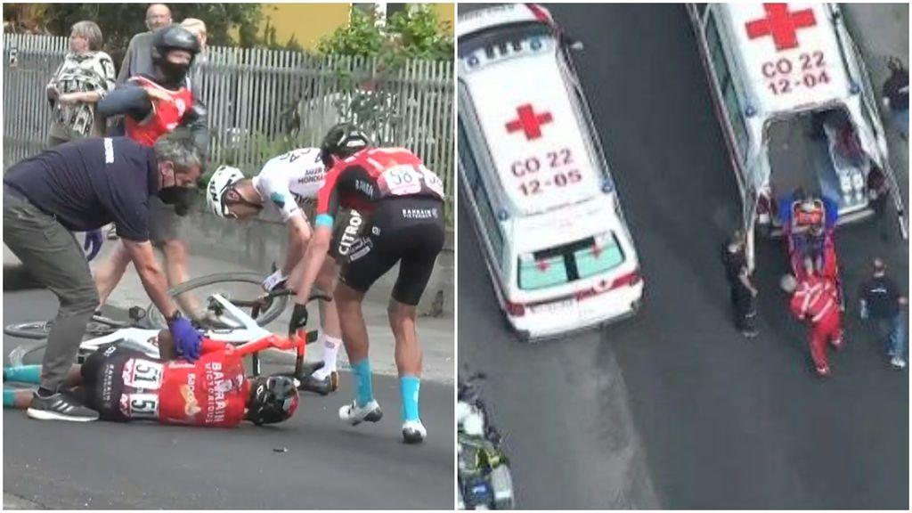 Mikel Landa sufre una grave caída y abandona el Giro de Italia