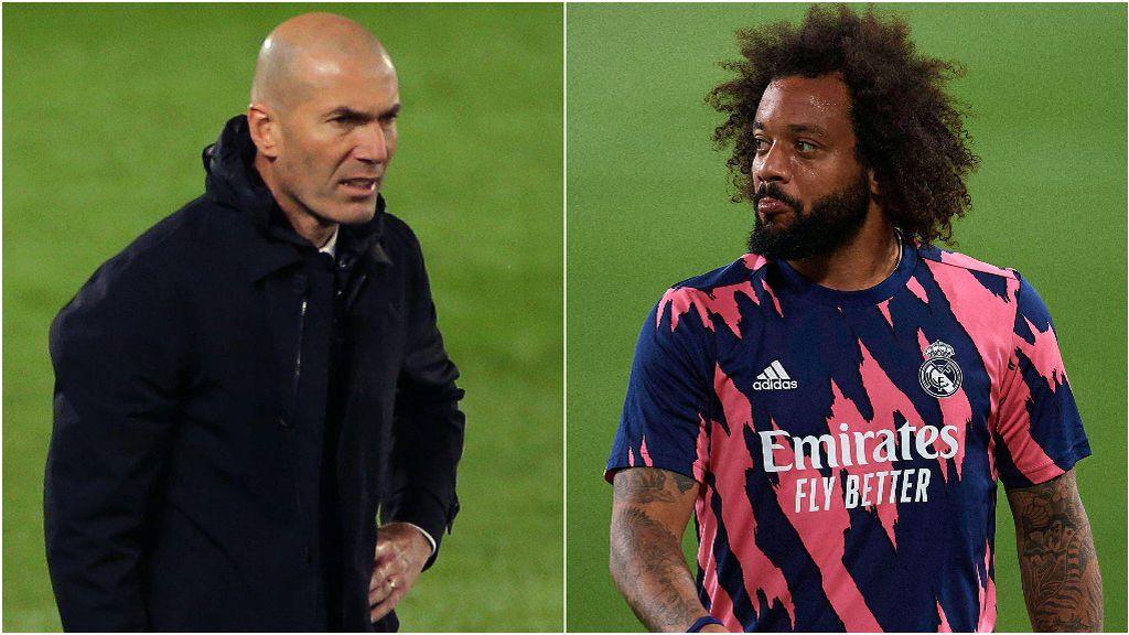 Zidane y Marcelo no han discutido en las últimas semanas.
