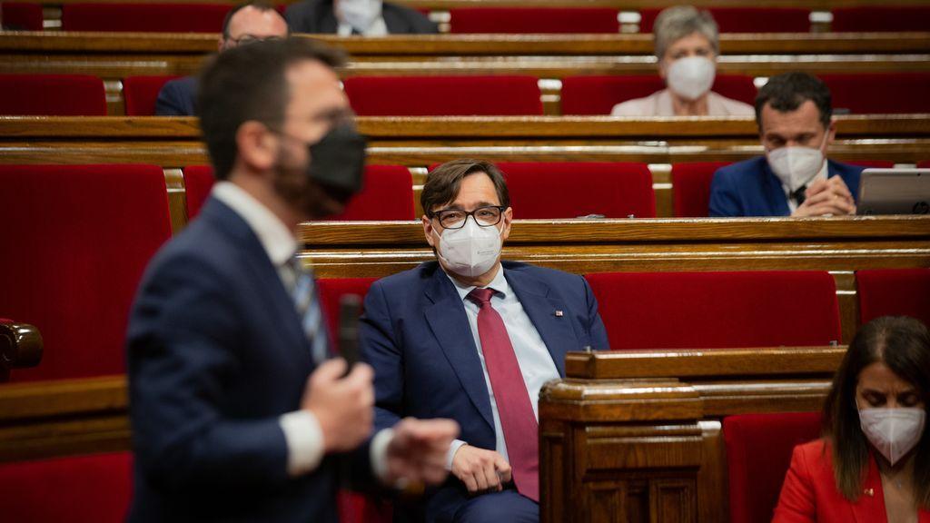 """Aragonès no renuncia a presidir la Generalitat ante la insistencia de Illa: """"No daré un paso al lado"""""""