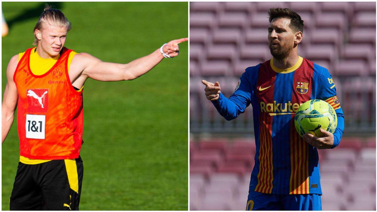 Haaland y Messi, las dos prioridades de Laporta.