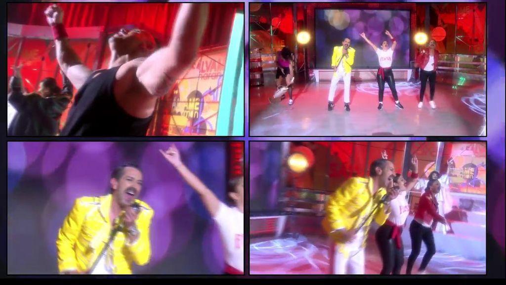 La 'Queen locura' llega a Sálvame: los colaboradores se disfrazan de Freddie Mercury y cantan sus canciones