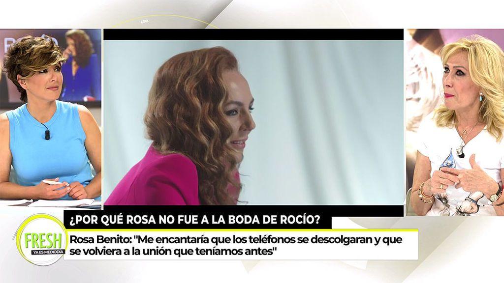 Rosa Benito desvela qué significa un precioso gesto de Rocío Carrasco