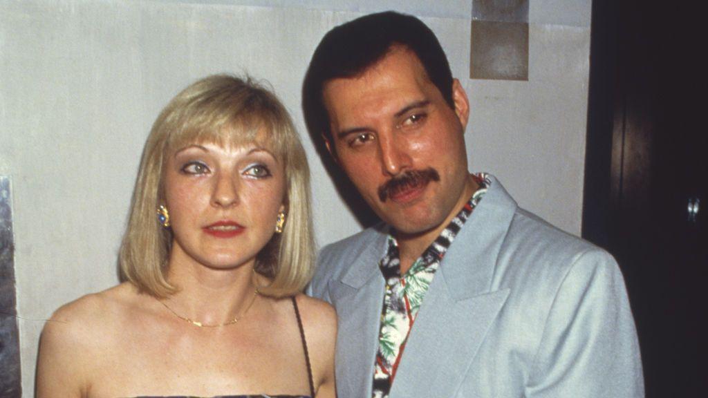 Mary y Freddie en 1986