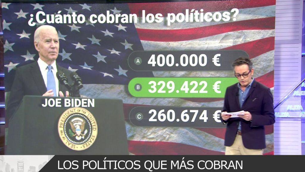 Joe Biden, el político mejor pagado