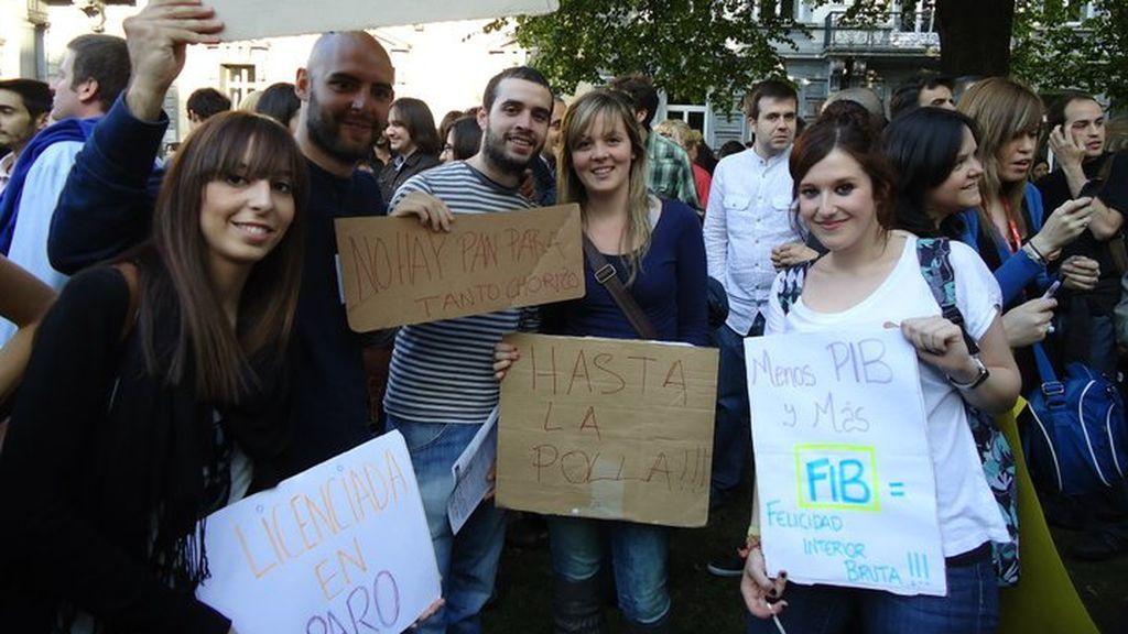 Rocío y sus compañeros de Erasmus en Bélgica