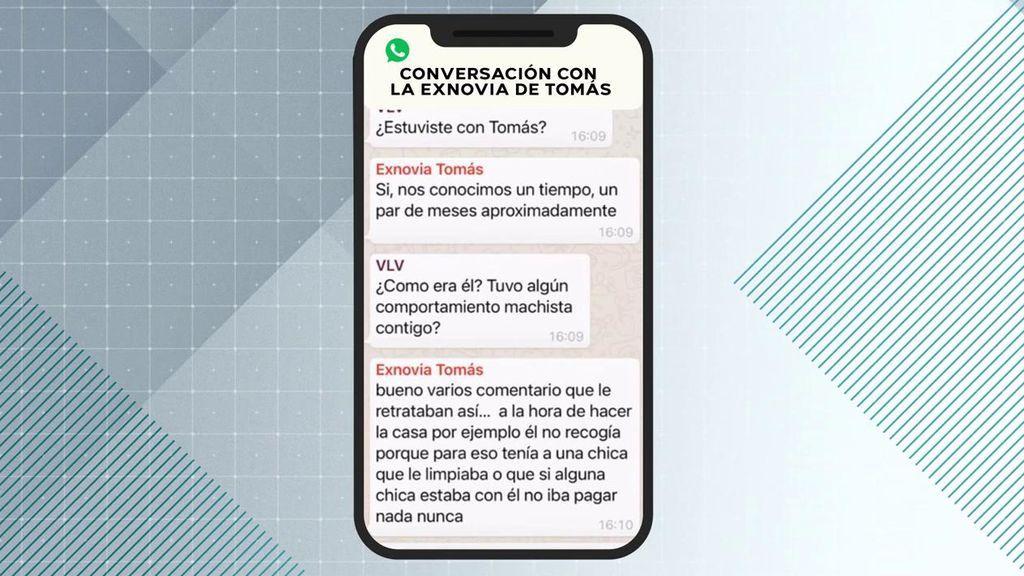 Los mensajes de la exnovia de Tomás Gimeno