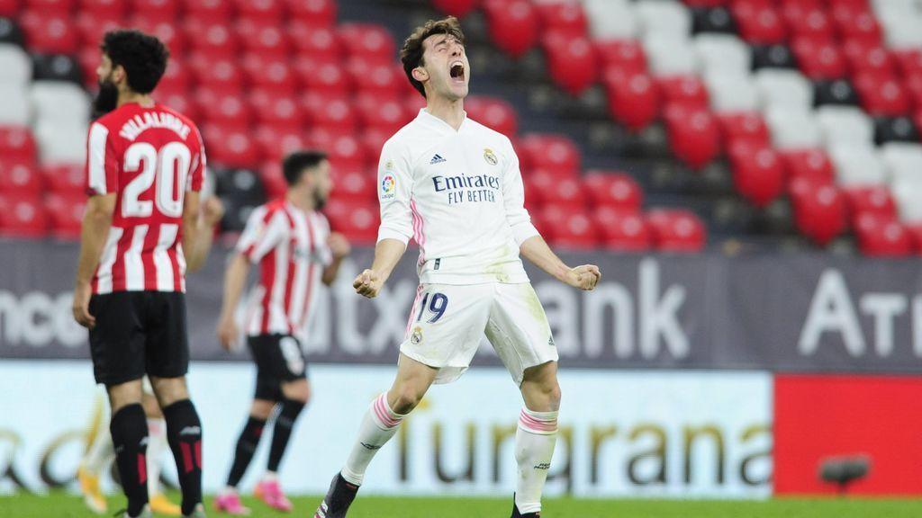 El Madrid gana en San Mamés (0-1) y mantiene las opciones a La Liga