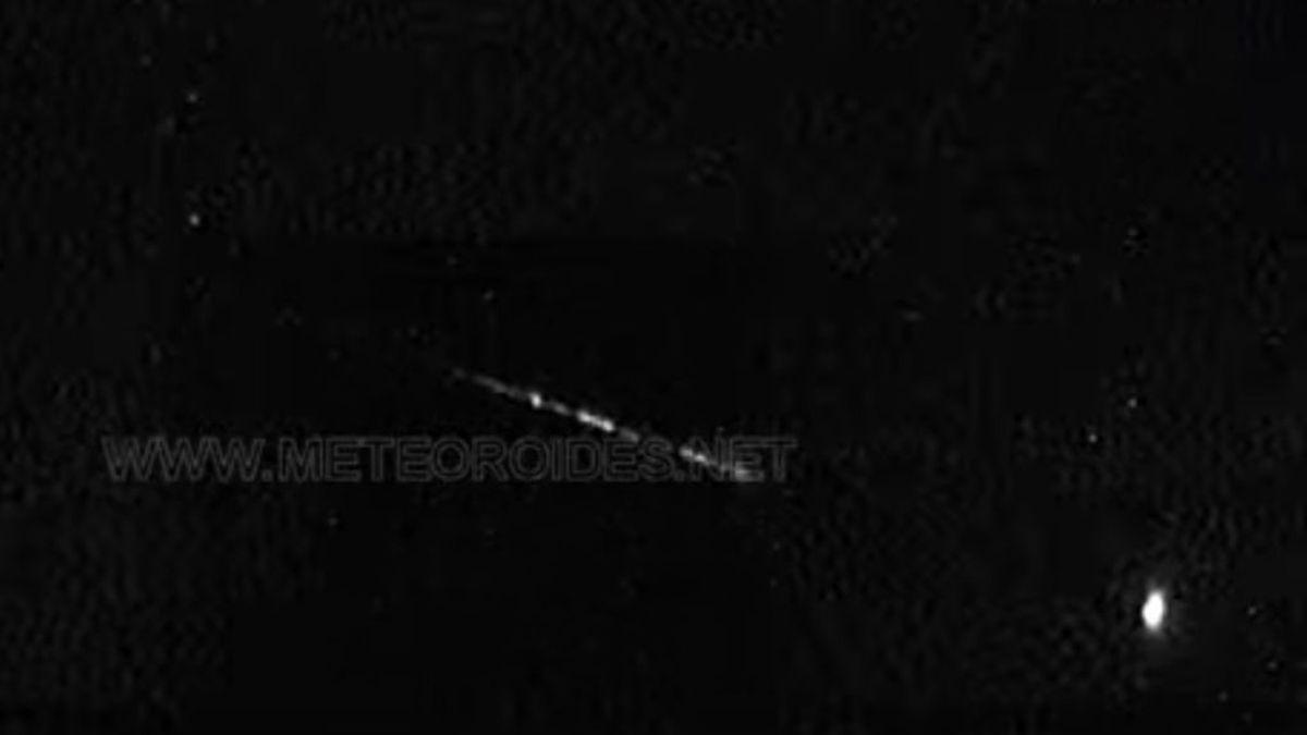 Una gran bola de fuego cruza el mediterráneo a 64.000km/h