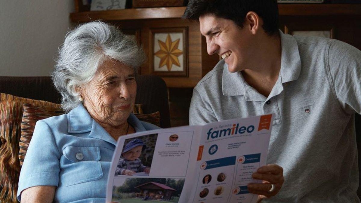 Contra la brecha digital: Famileo, la app que convierte los WhatsApp familiares en una revista en papel para que la lean tus padres