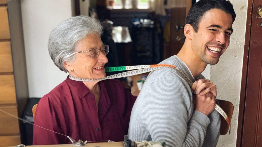 Bernardo y su abuela Otilia
