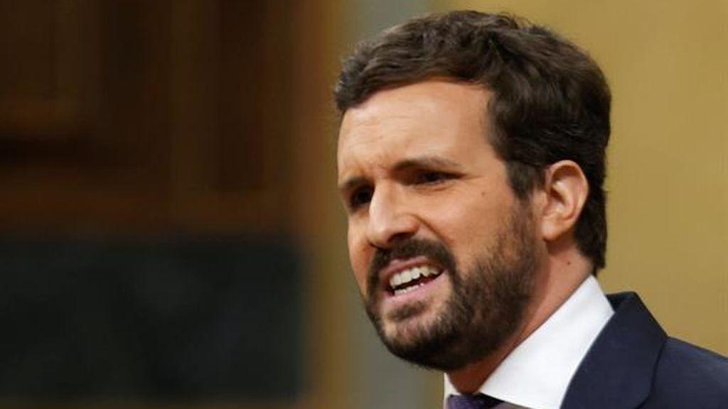 Las hipérboles de Casado para tumbar a Pedro Sánchez
