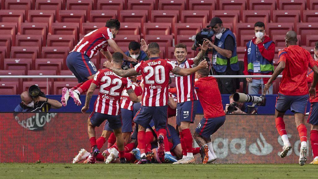 El Atlético remontó a Osasuna en la recta final del encuentro.