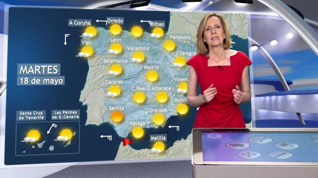 Un frente atlántico provocará lluvias en el norte de España este martes