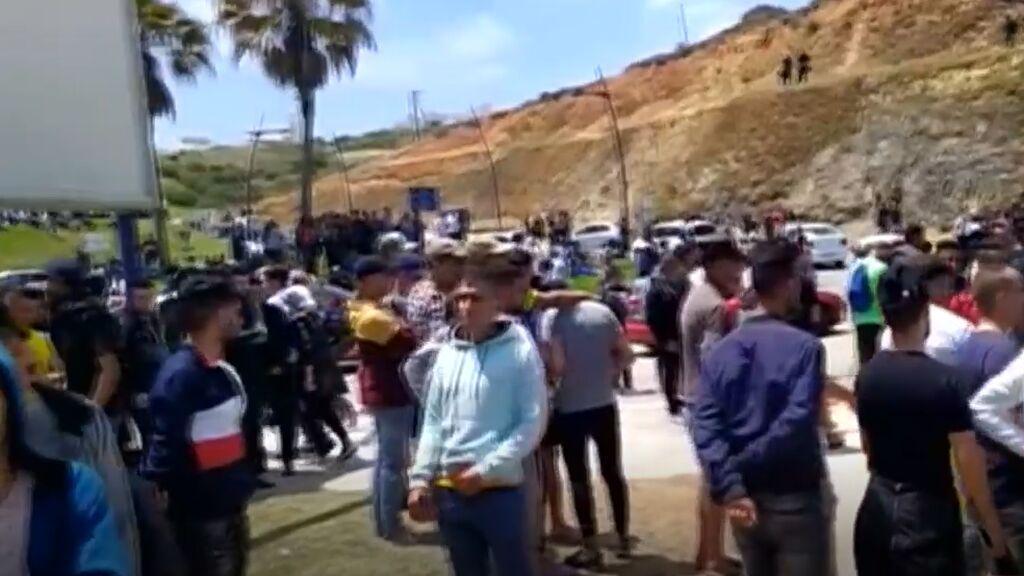 En Castillejos sabían desde el domingo que la frontera iba a estar abierta