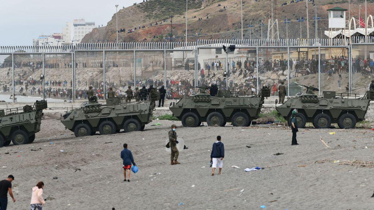 En directo: España mantendrá 'sine die' el despliegue policial en la frontera de Ceuta