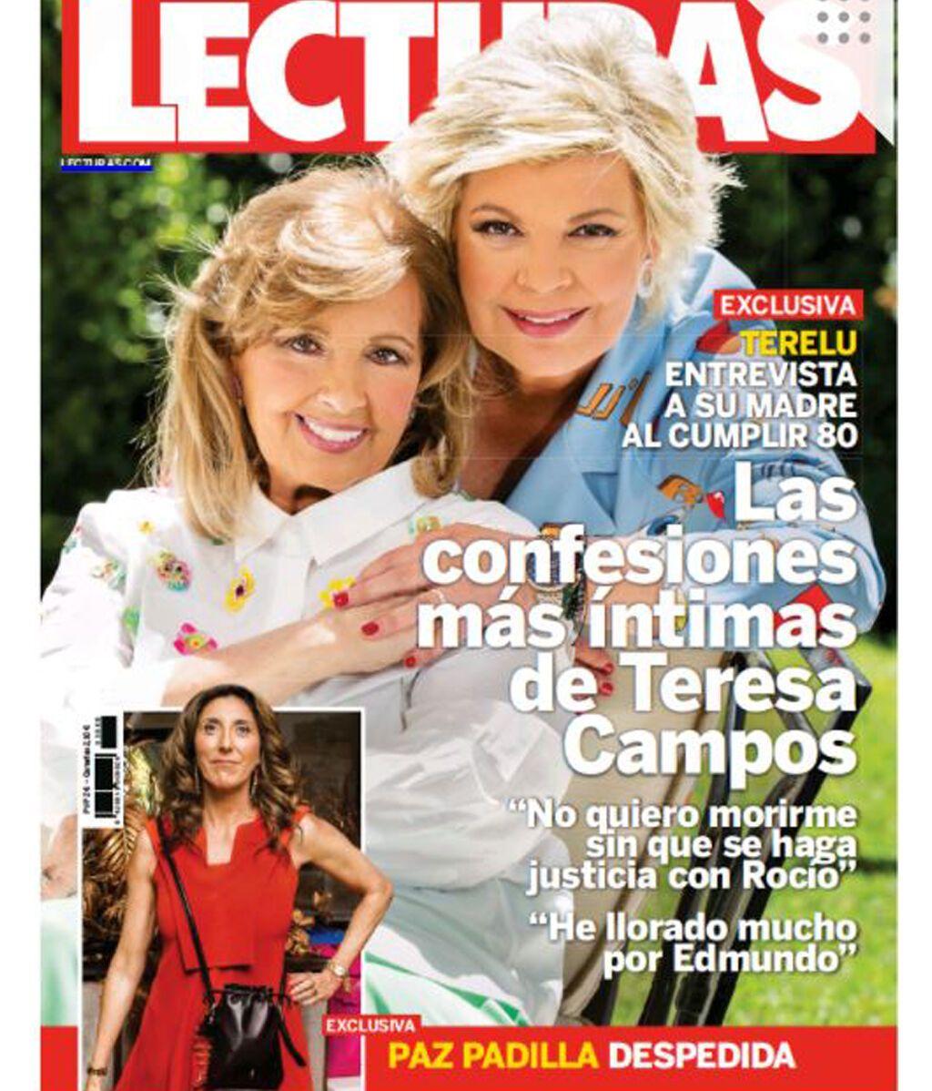 Portada de la revista Lecturas con la entrevista a María Teresa Campos