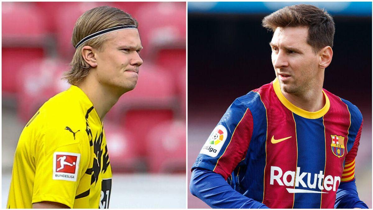 Laporta apuesta por la renovación de Messi con el Barcelona.