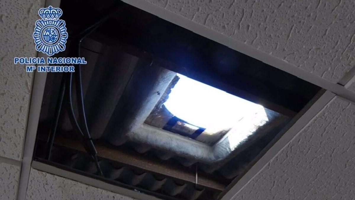 Detenido en Almería un delincuente especializado en el 'rififí': robar edificios mediante agujeros en el techo