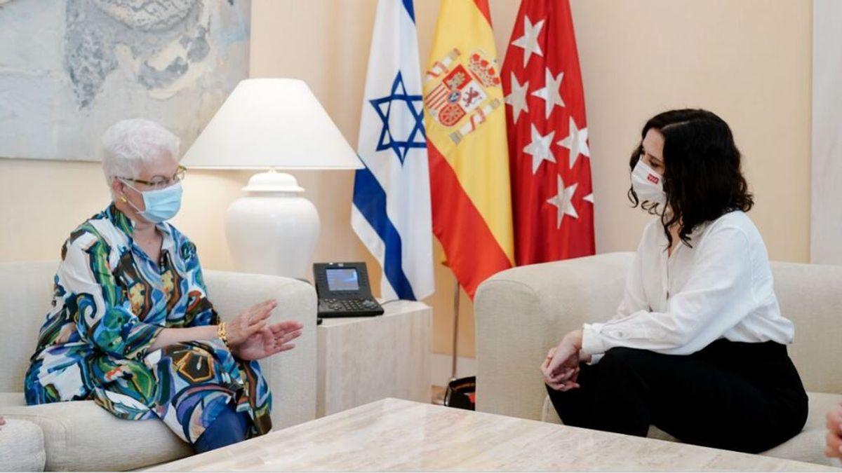 Ayuso se reúne con la embajadora de Israel en plena escalada de violencia con Palestina