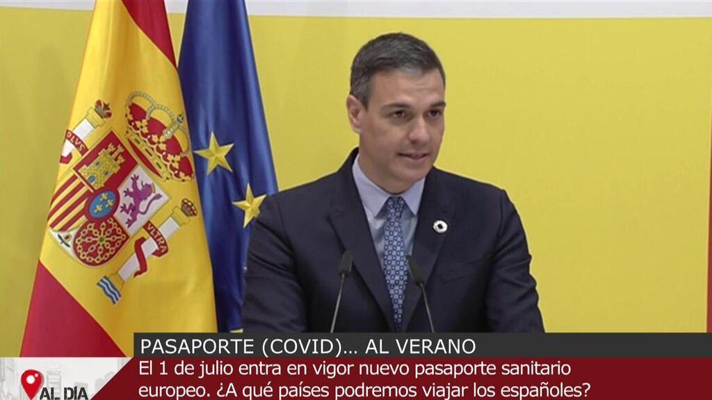 Pedro Sánchez presenta el Certificado covid