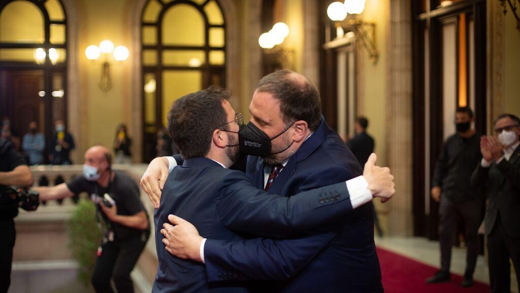 Pere Aragonès es investido presidente de la Generalitat de Cataluña por mayoría absoluta