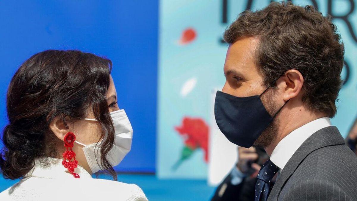 Casado y Ayuso rivalizan por la paternidad del 'pasaporte  covid': ambos dicen que la idea  fue suya