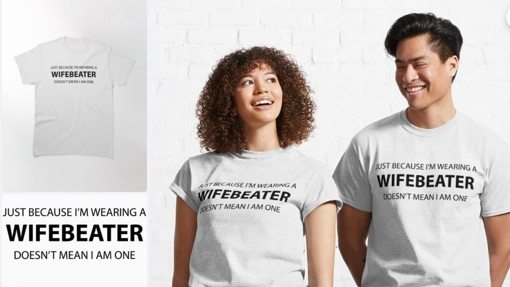 """Modelos con camisetas """"Wife Beater"""""""