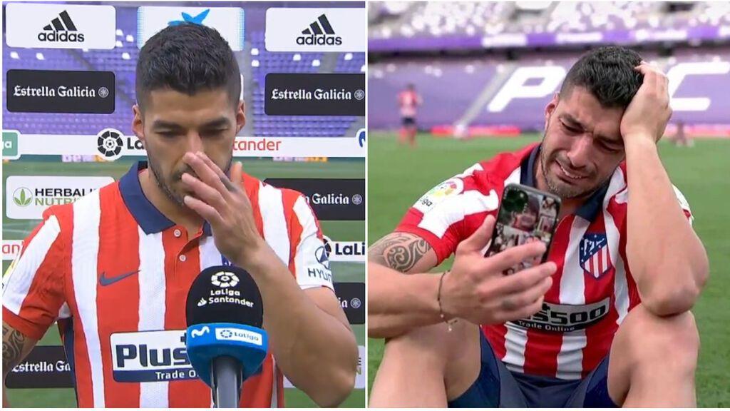 Las lágrimas de Luis Suárez al proclamarse campeón