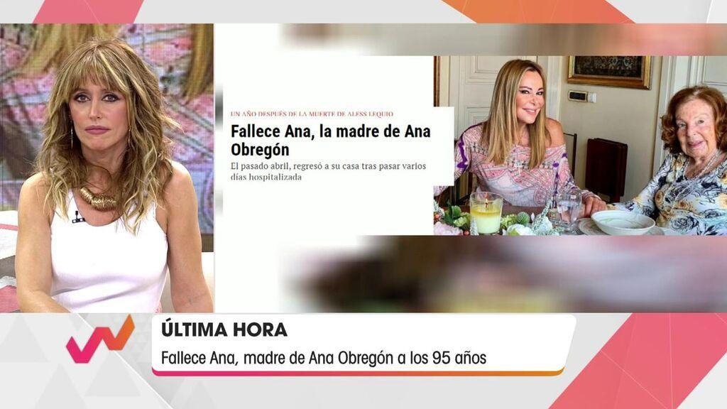 Emma García anuncia el fallecimiento de la madre de Ana Obregón.