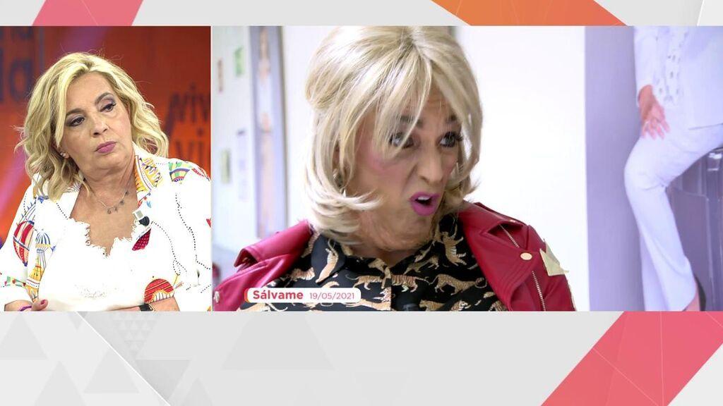 Carmen Borrego reacciona a la imitación de Josep Ferré